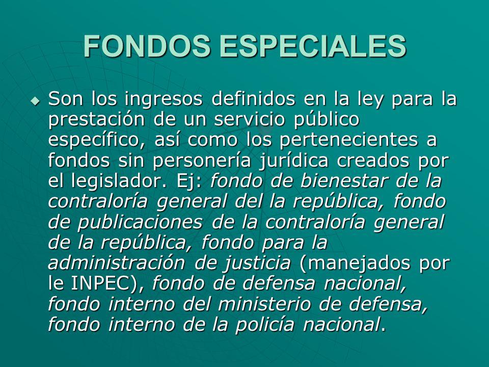 FONDOS ESPECIALES