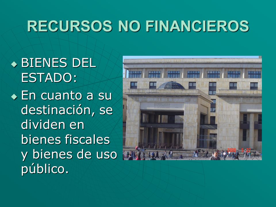 RECURSOS NO FINANCIEROS