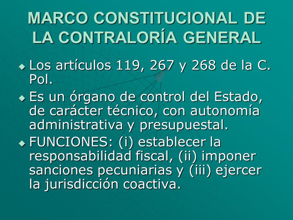 MARCO CONSTITUCIONAL DE LA CONTRALORÍA GENERAL
