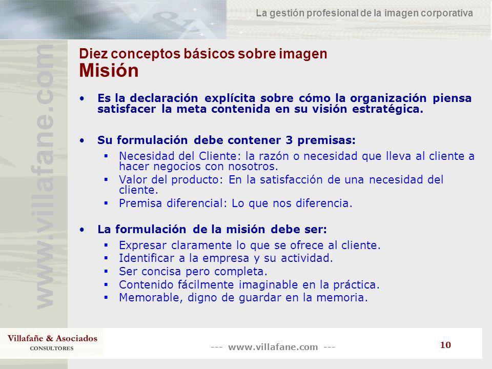 Diez conceptos básicos sobre imagen Misión
