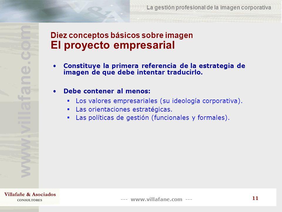Diez conceptos básicos sobre imagen El proyecto empresarial