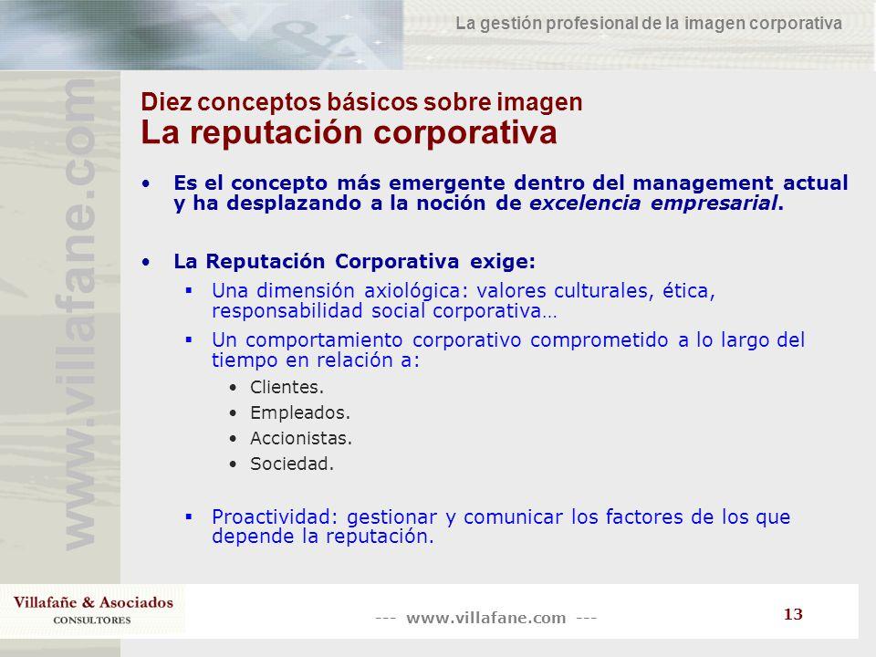 Diez conceptos básicos sobre imagen La reputación corporativa