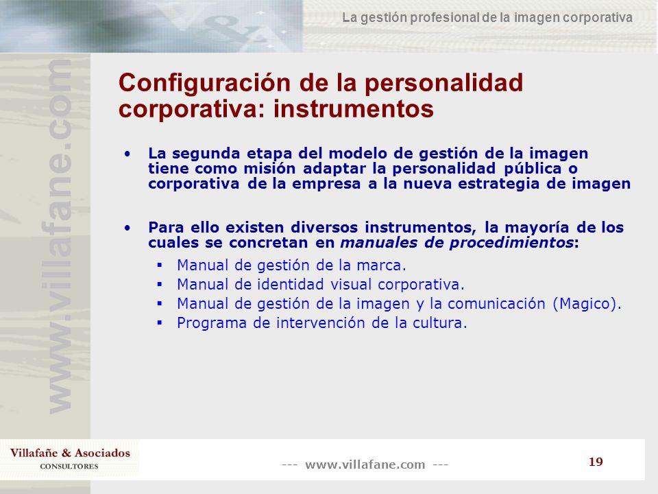 Configuración de la personalidad corporativa: instrumentos