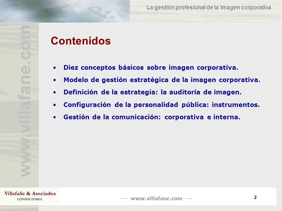 Contenidos Diez conceptos básicos sobre imagen corporativa.