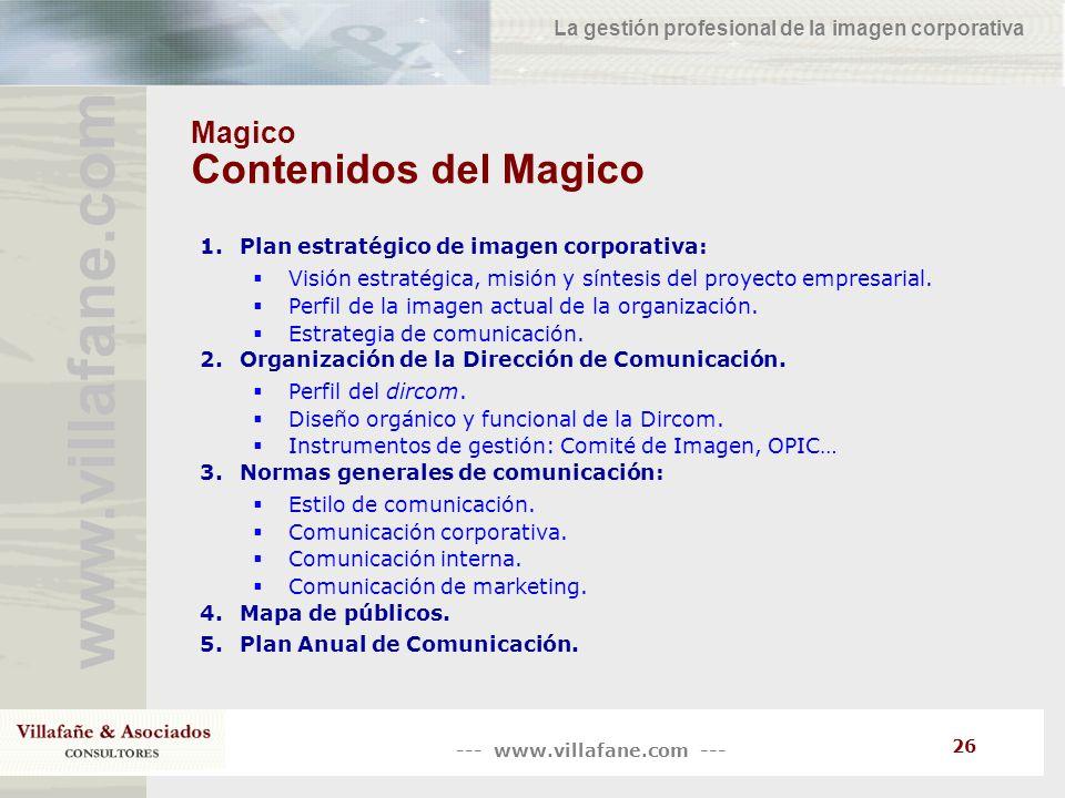 Magico Contenidos del Magico