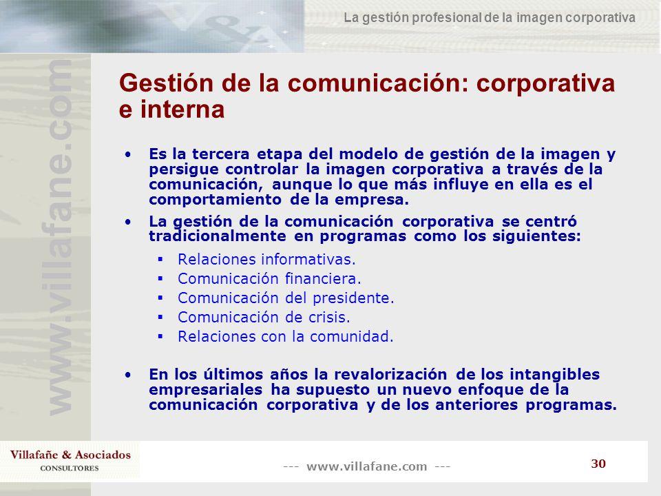 Gestión de la comunicación: corporativa e interna
