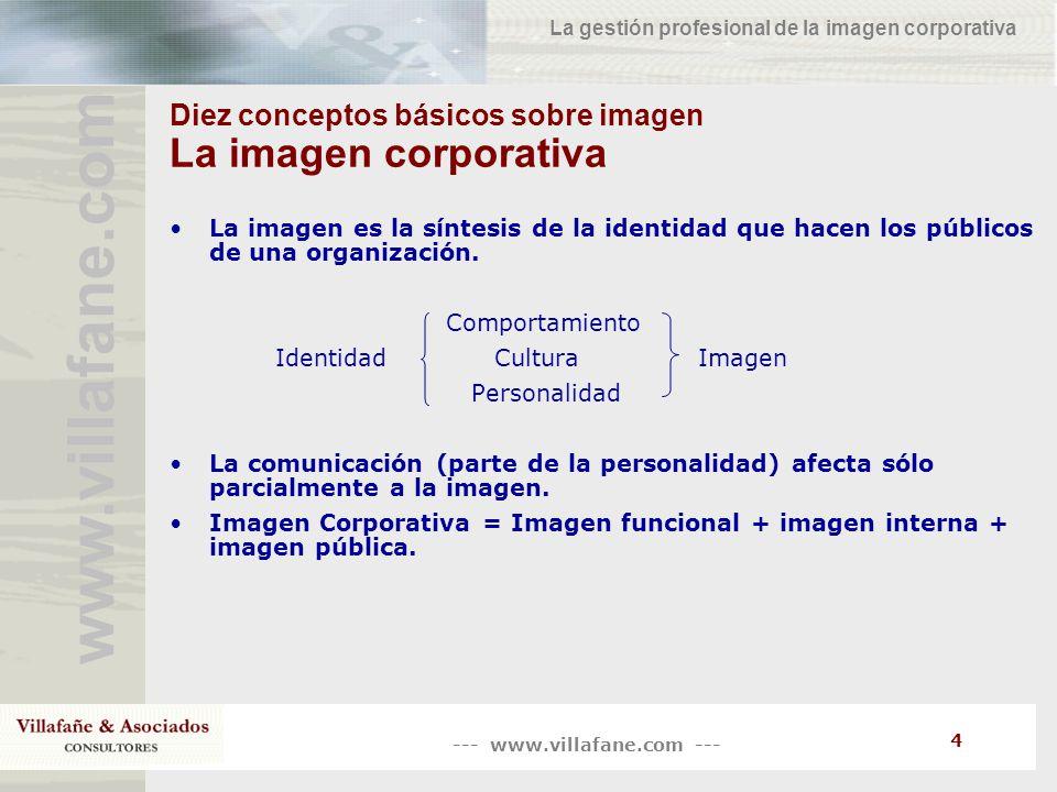 Diez conceptos básicos sobre imagen La imagen corporativa