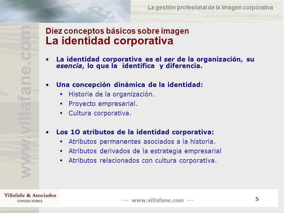 Diez conceptos básicos sobre imagen La identidad corporativa