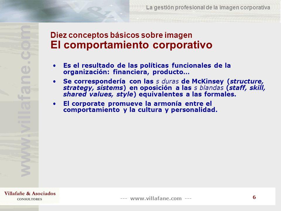 Diez conceptos básicos sobre imagen El comportamiento corporativo