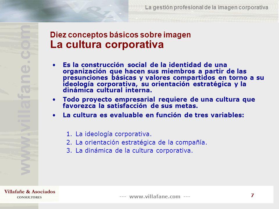 Diez conceptos básicos sobre imagen La cultura corporativa