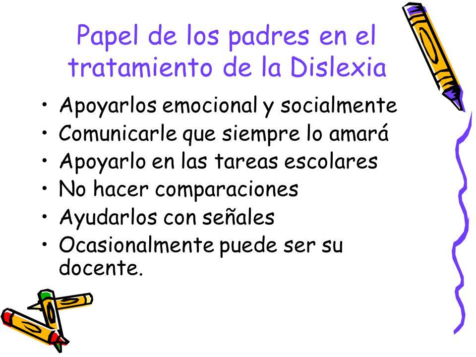Papel de los padres en el tratamiento de la Dislexia
