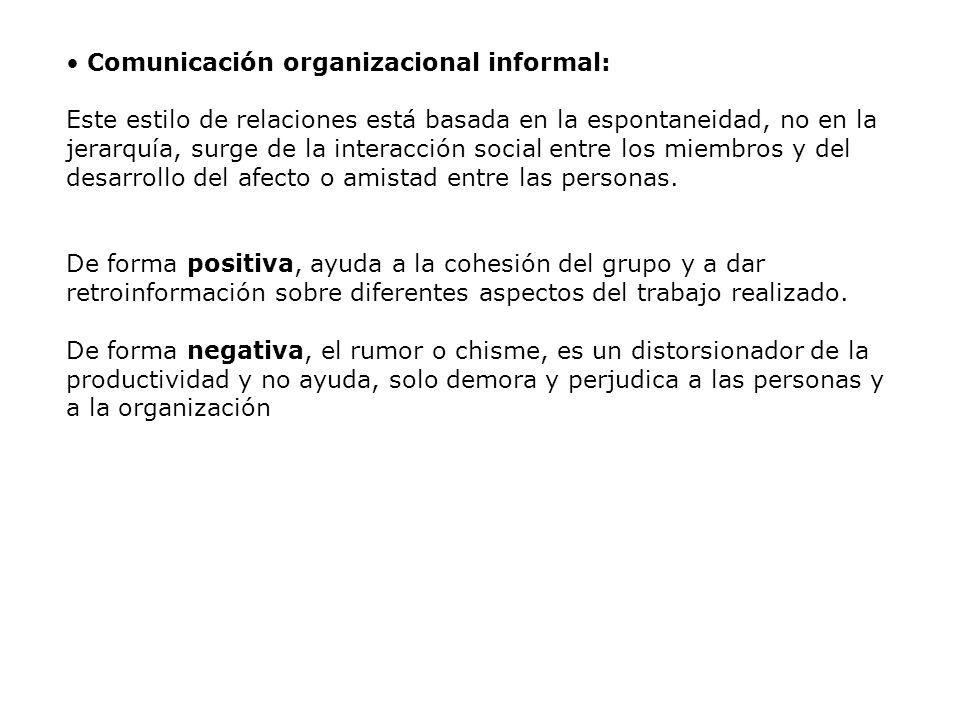 Comunicación organizacional informal: