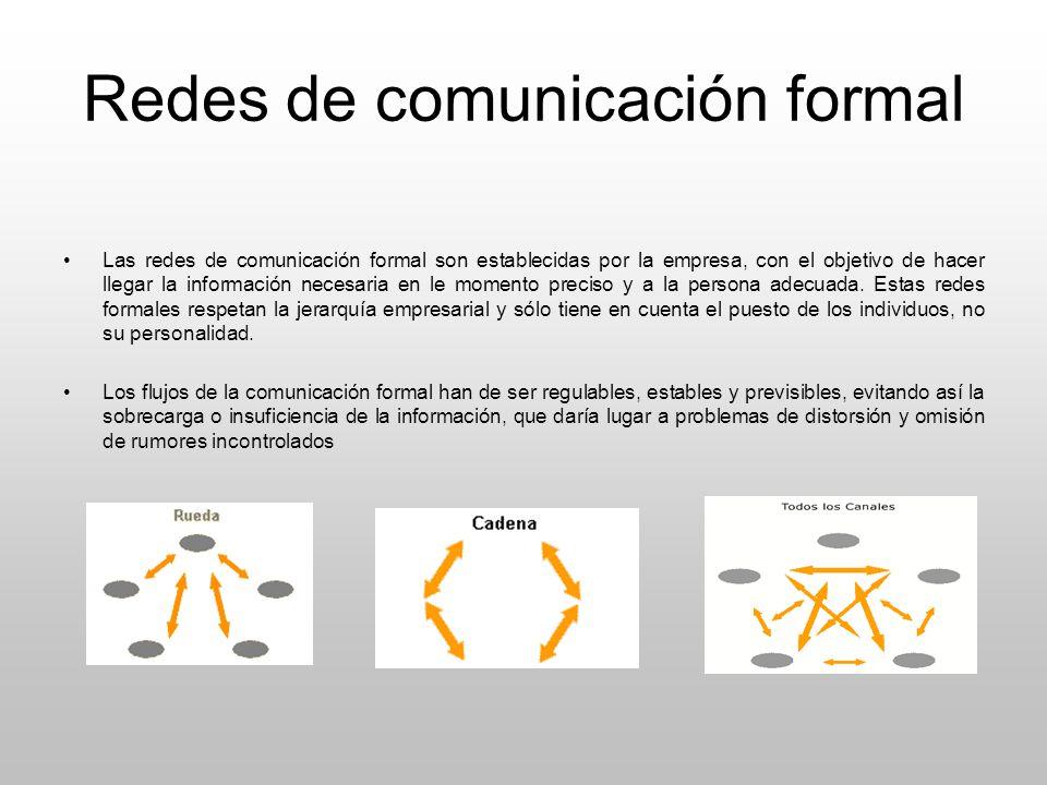 Redes de comunicación formal