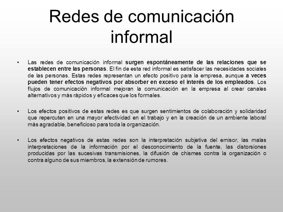 Redes de comunicación informal