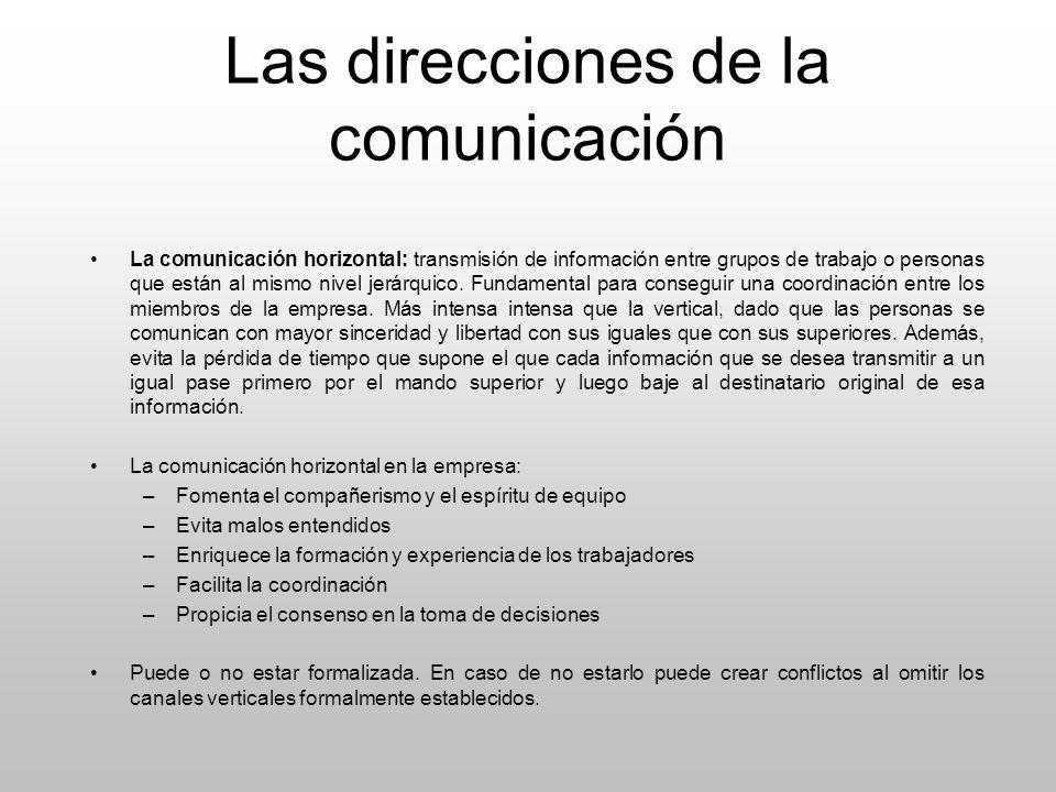 Las direcciones de la comunicación