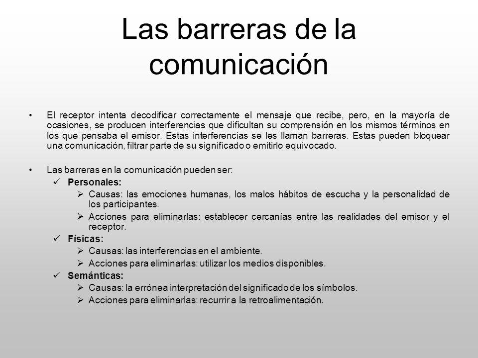 Las barreras de la comunicación