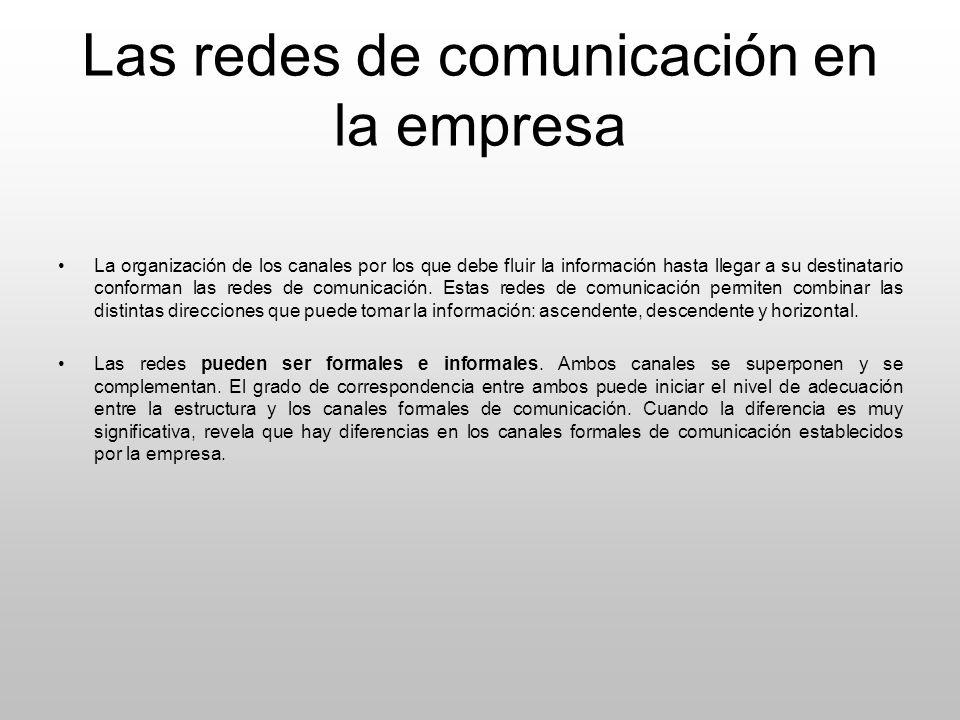 Las redes de comunicación en la empresa