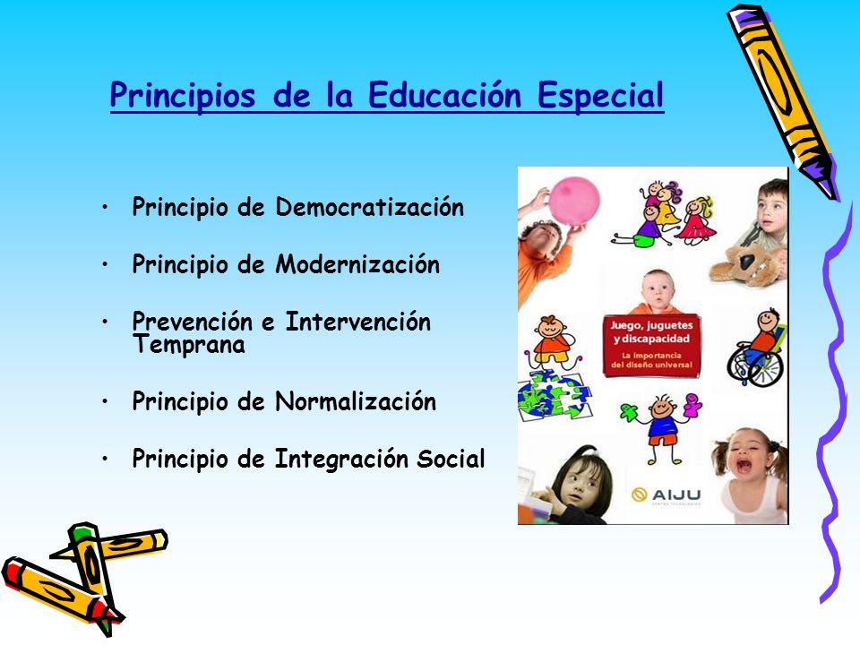 Principios de la Educación Especial