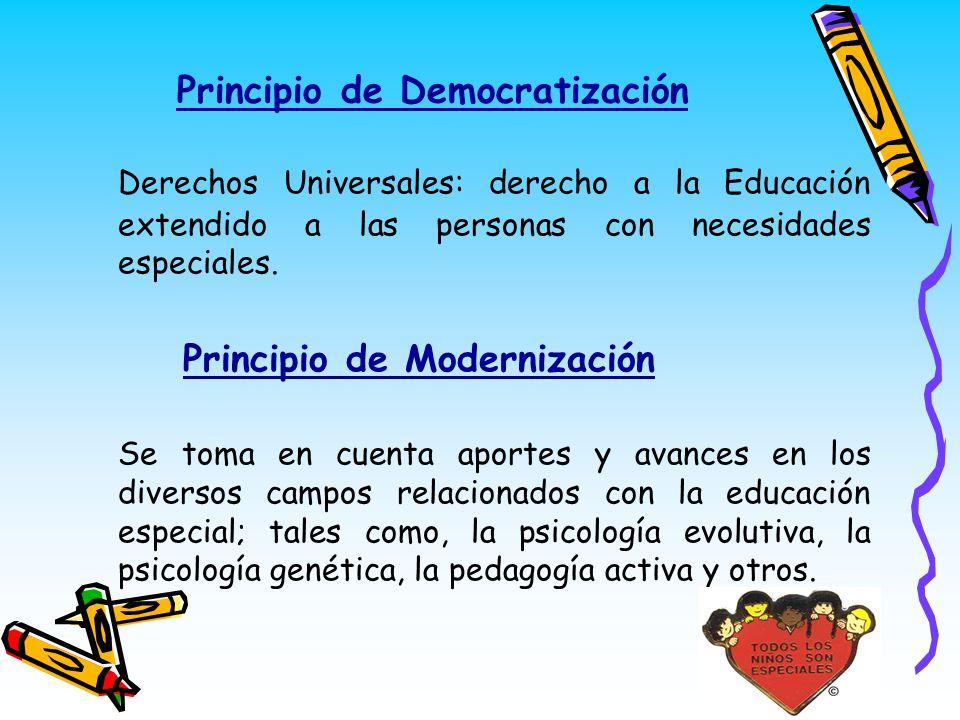 Principio de Democratización