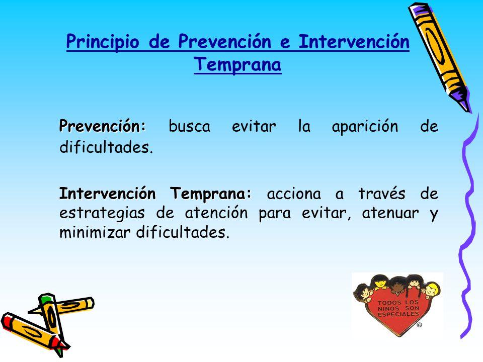 Principio de Prevención e Intervención Temprana