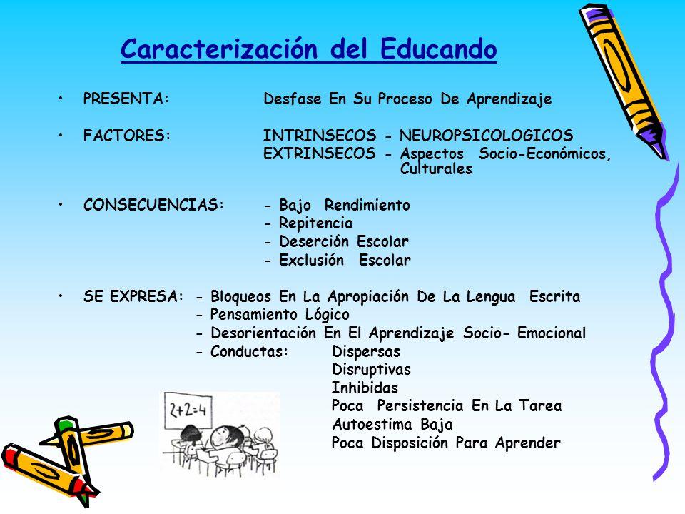 Caracterización del Educando
