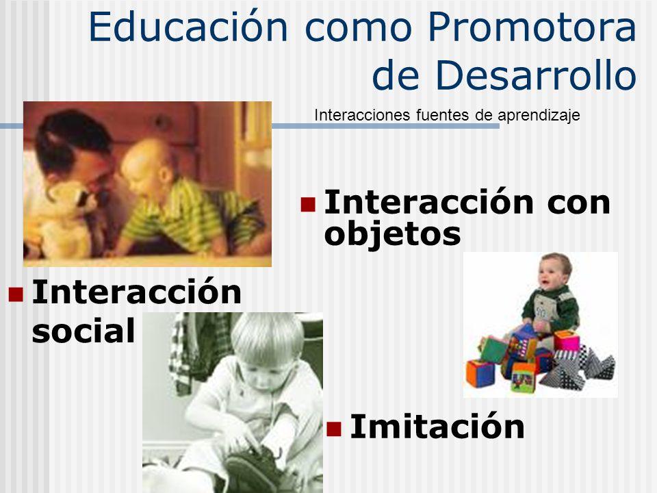 Educación como Promotora de Desarrollo