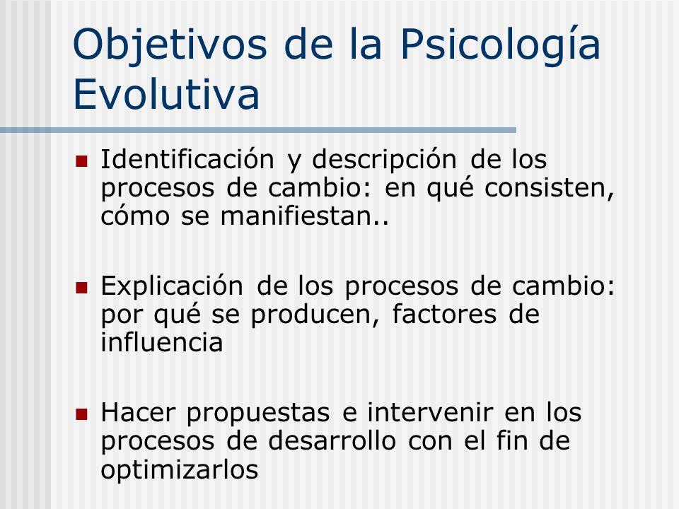 Objetivos de la Psicología Evolutiva