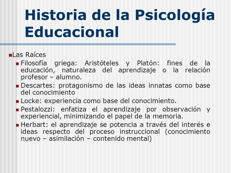 Historia de la Psicología Educacional