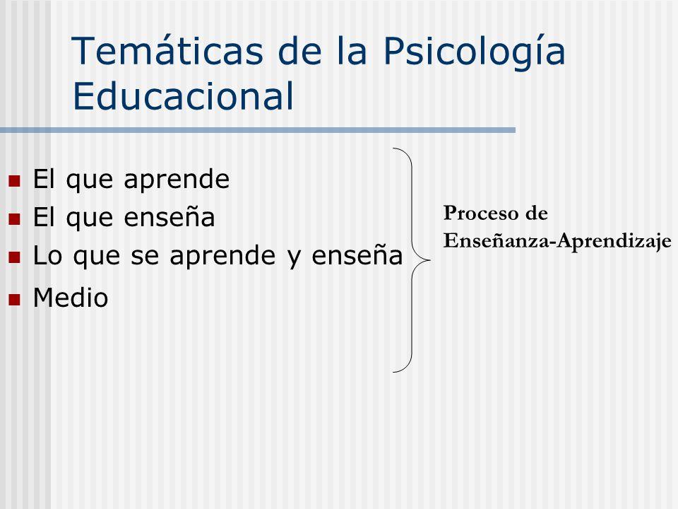 Temáticas de la Psicología Educacional