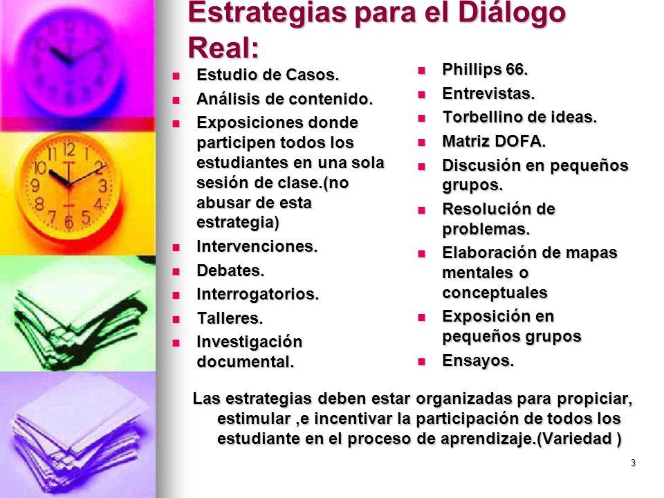 Estrategias para el Diálogo Real: