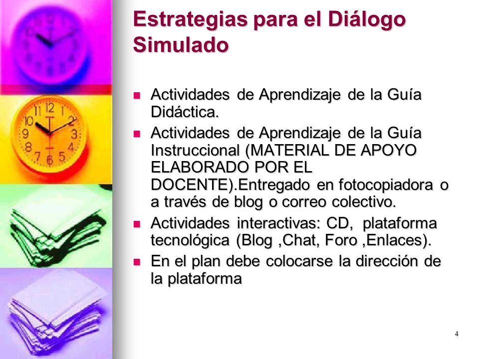 Estrategias para el Diálogo Simulado