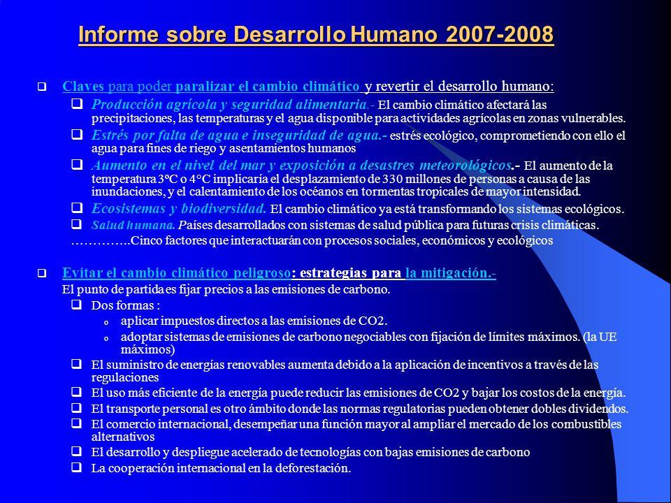 Informe sobre Desarrollo Humano 2007-2008