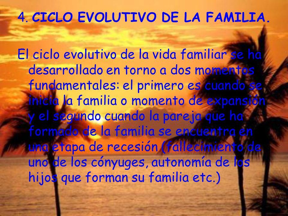4. CICLO EVOLUTIVO DE LA FAMILIA.