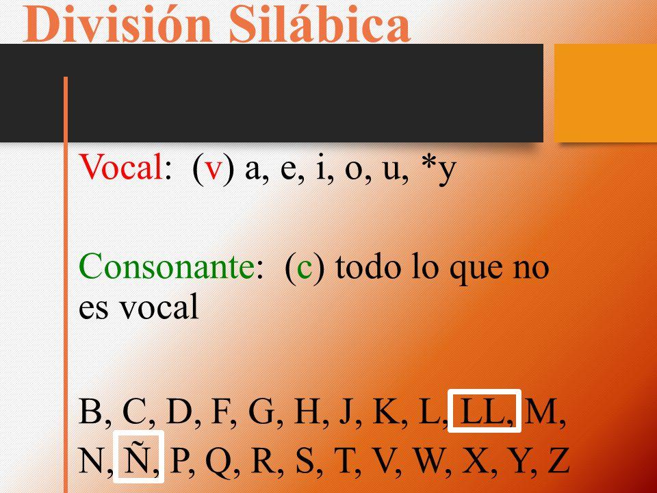 División Silábica