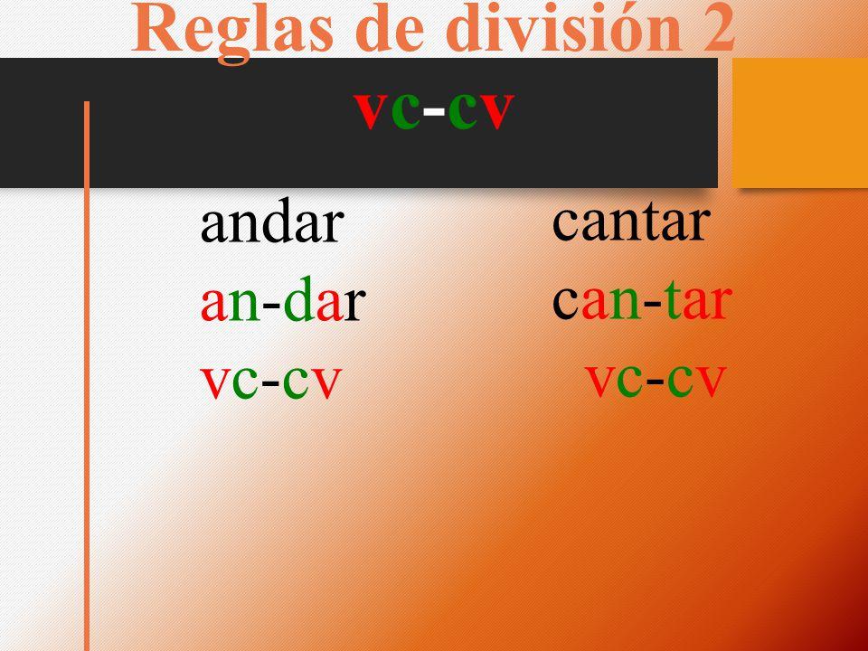 Reglas de división 2 vc-cv