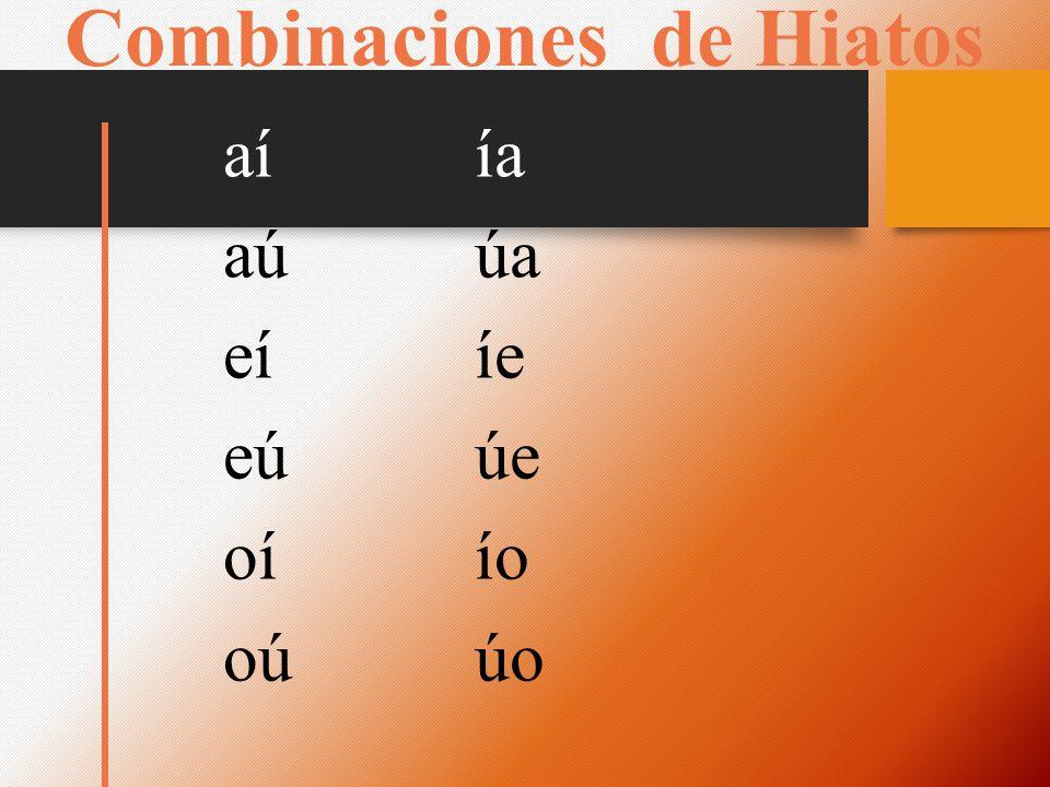 Combinaciones de Hiatos