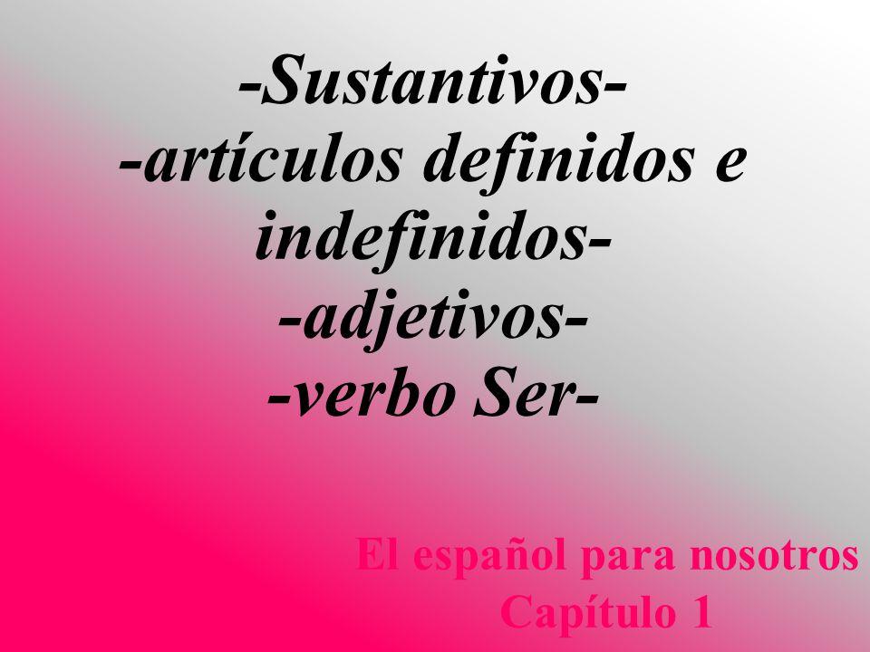 El español para nosotros Capítulo 1