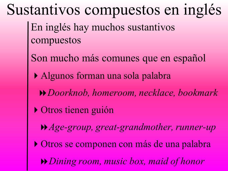 Sustantivos compuestos en inglés