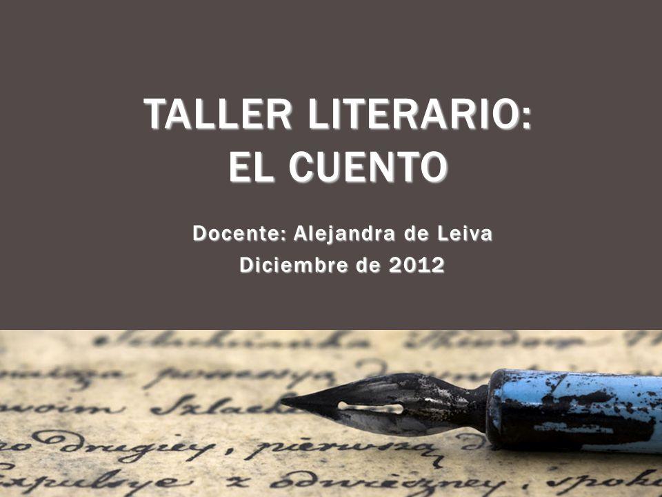 TALLER LITERARIO: EL CUENTO