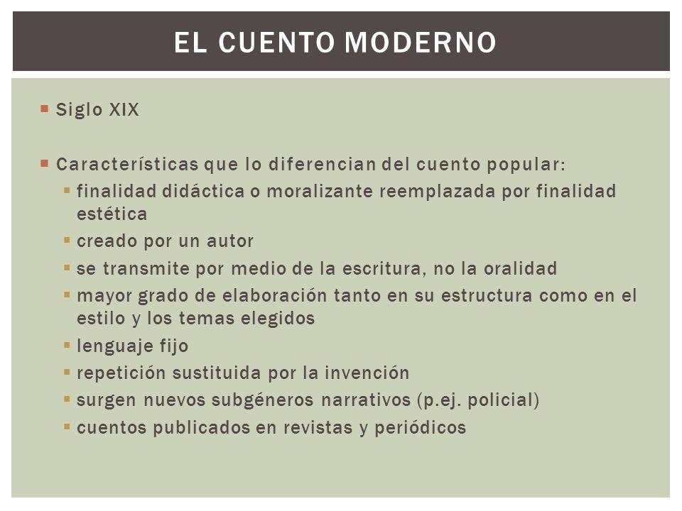 El cuento moderno Siglo XIX