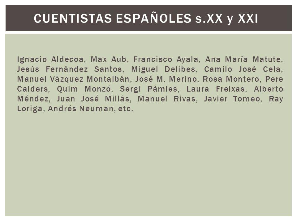 CUENTISTAS ESPAÑOLES s.XX y XXI