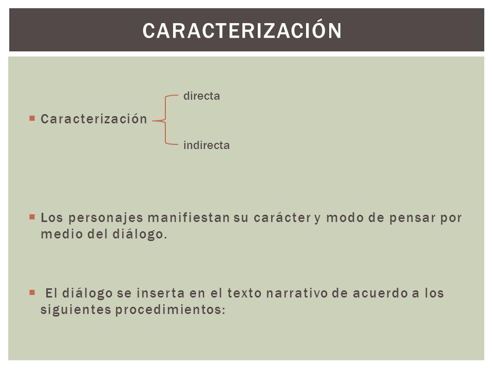 CARACTERIZACIÓN Caracterización