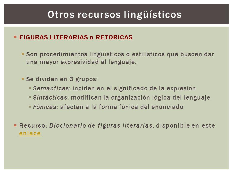 Otros recursos lingüísticos