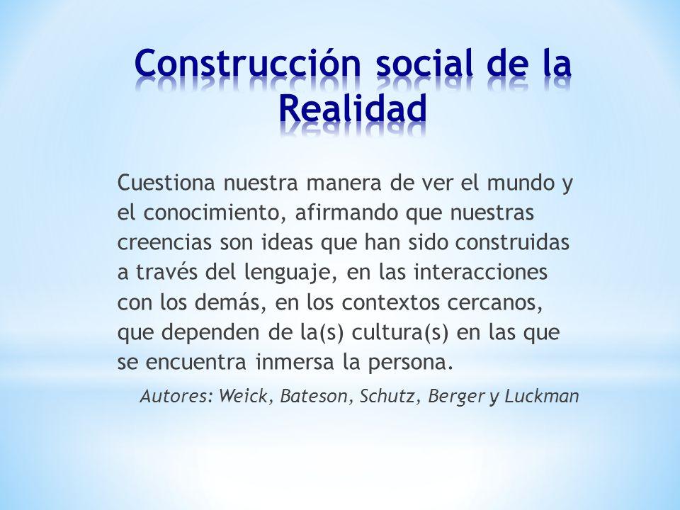 Construcción social de la Realidad