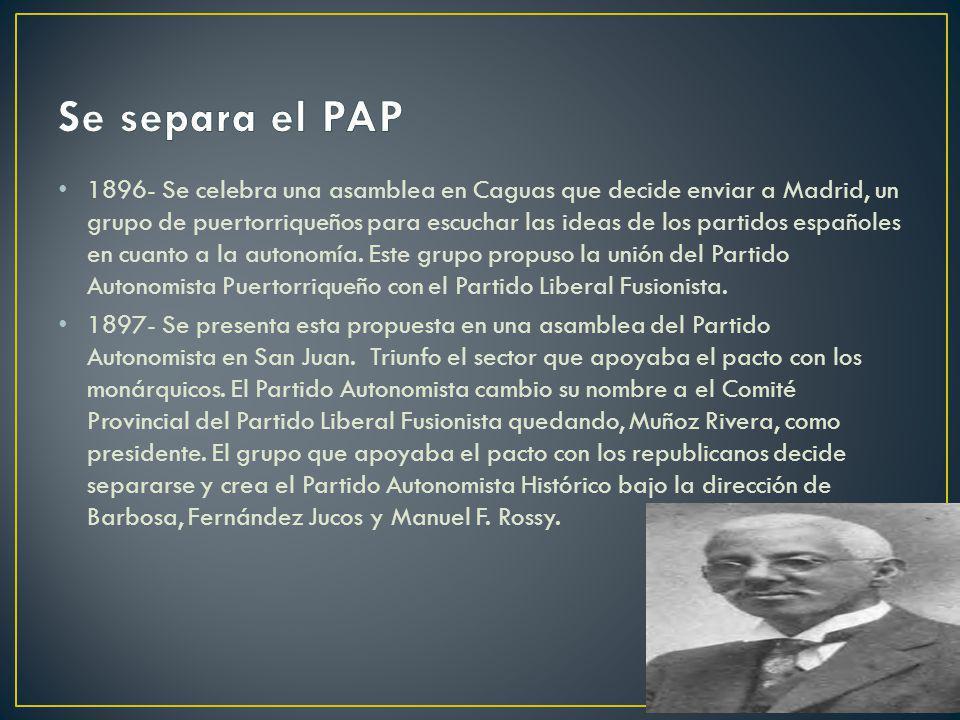Se separa el PAP
