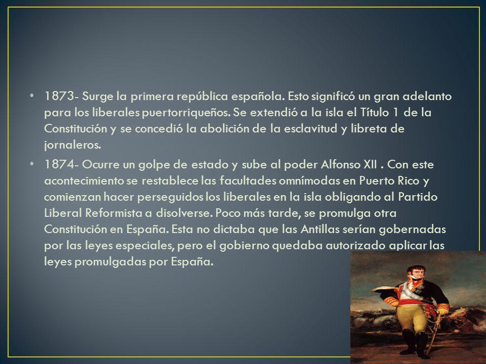 1873- Surge la primera república española