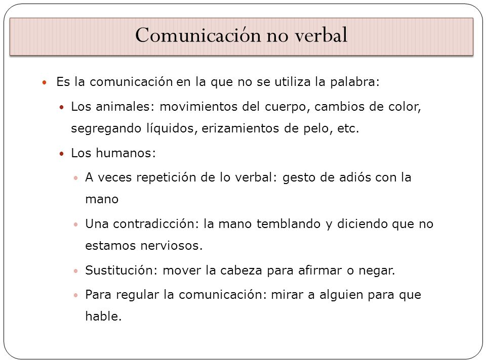 Comunicación no verbal