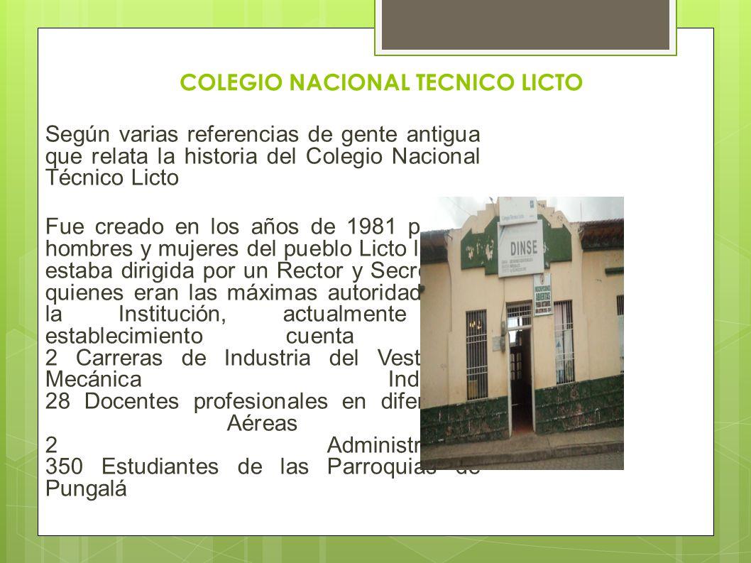 COLEGIO NACIONAL TECNICO LICTO