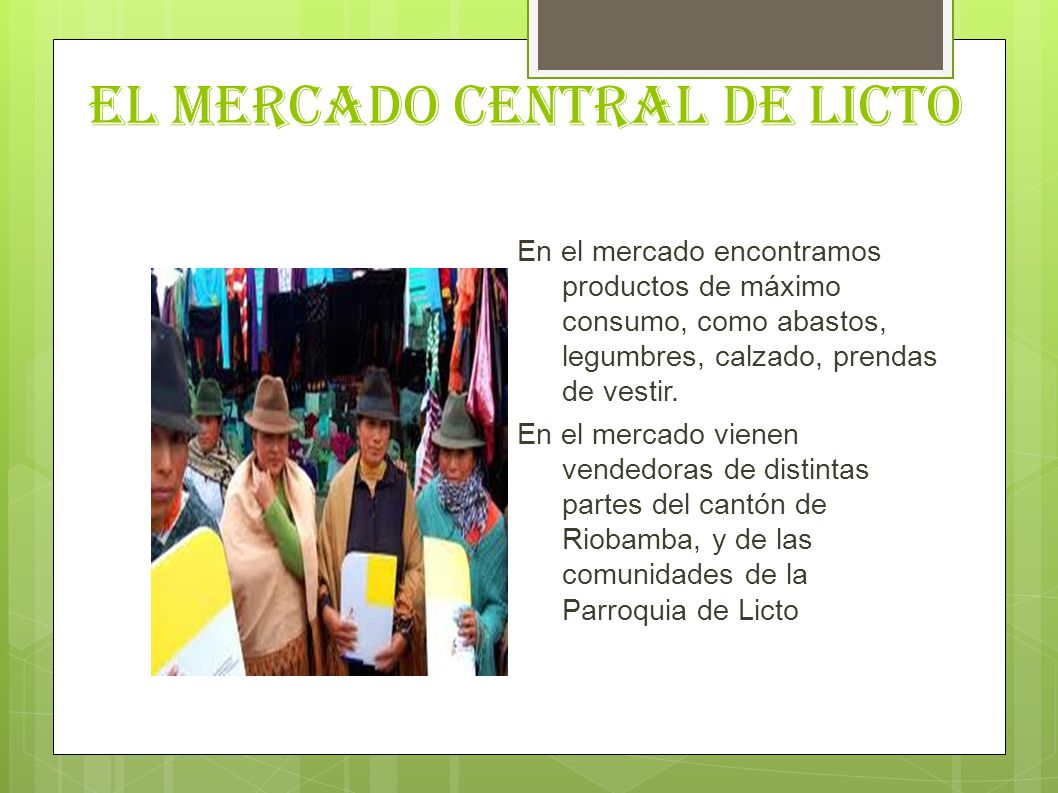 EL MERCADO CENTRAL DE LICTO
