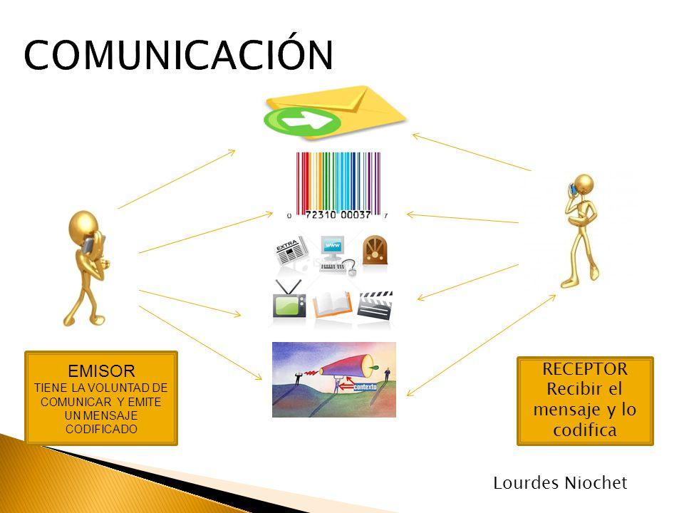 COMUNICACIÓN EMISOR RECEPTOR Recibir el mensaje y lo codifica